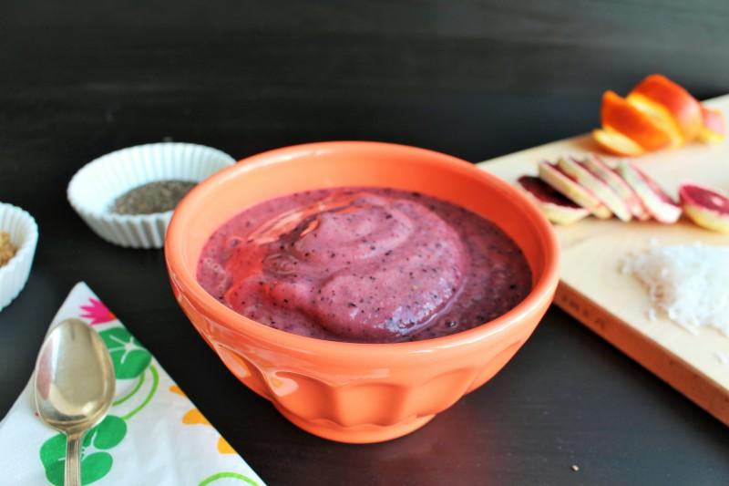 Creme gelado de blueberry e banana 5