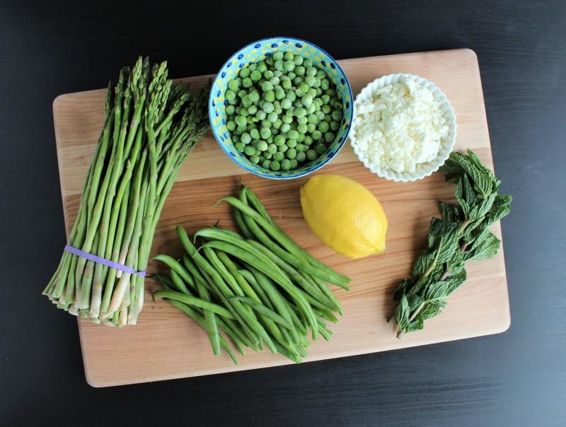 Salada de aspargos vagem e ervilha 2