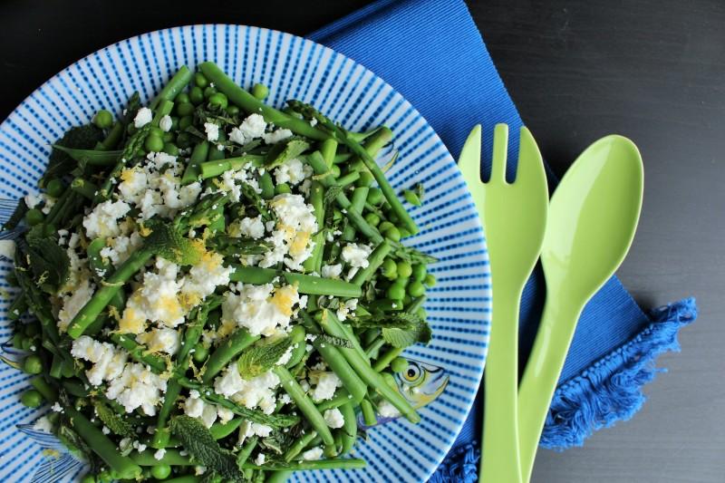 Salada de aspargos vagem e ervilha 6