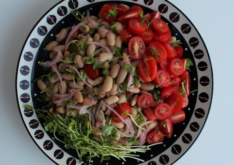 Salada de feijão branco 4