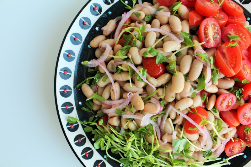 Salada de feijão branco 6