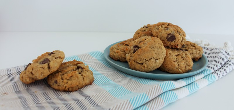 Cookies de chocolate, coco e aveia 5