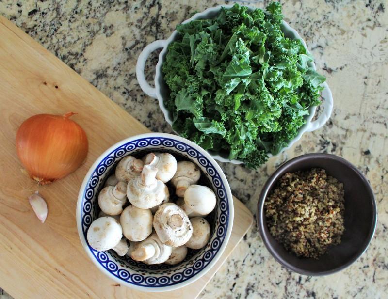 Quinoa com cogumelos 1