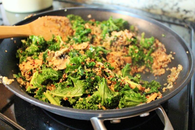 Quinoa com cogumelos 3