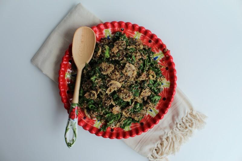 Quinoa com cogumelos 4