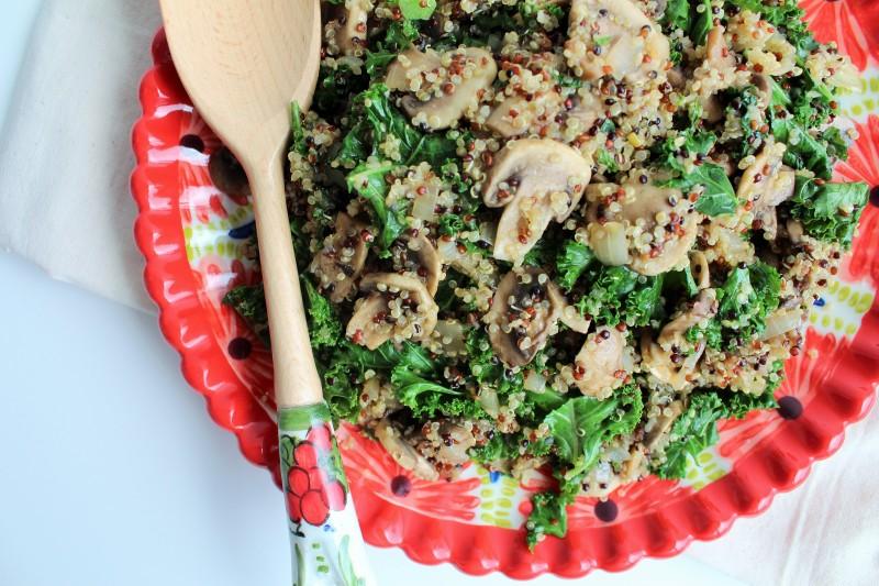 Quinoa com cogumelos 5
