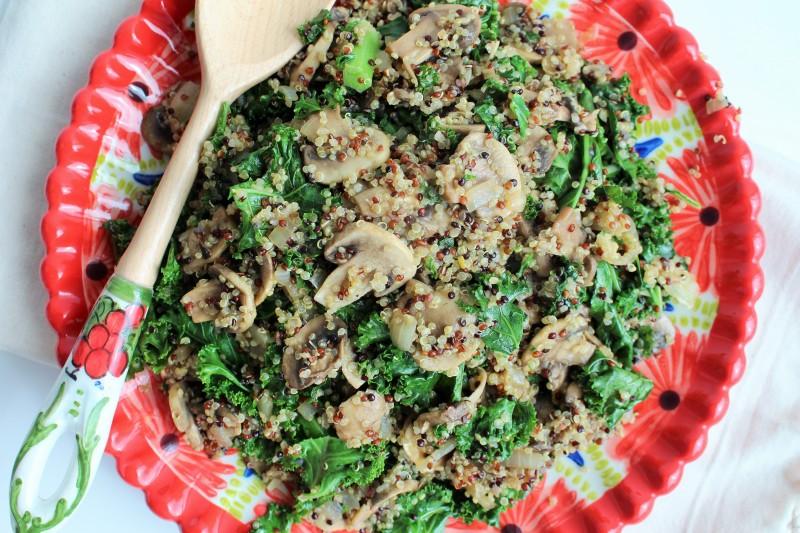 Quinoa com cogumelos 8