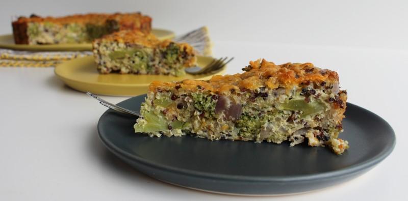 Torta de Quinoa e Brócolis 11