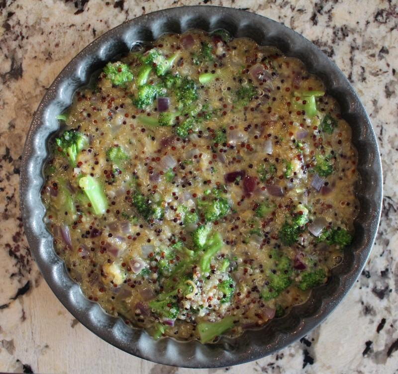 Torta de Quinoa e Brócolis 5
