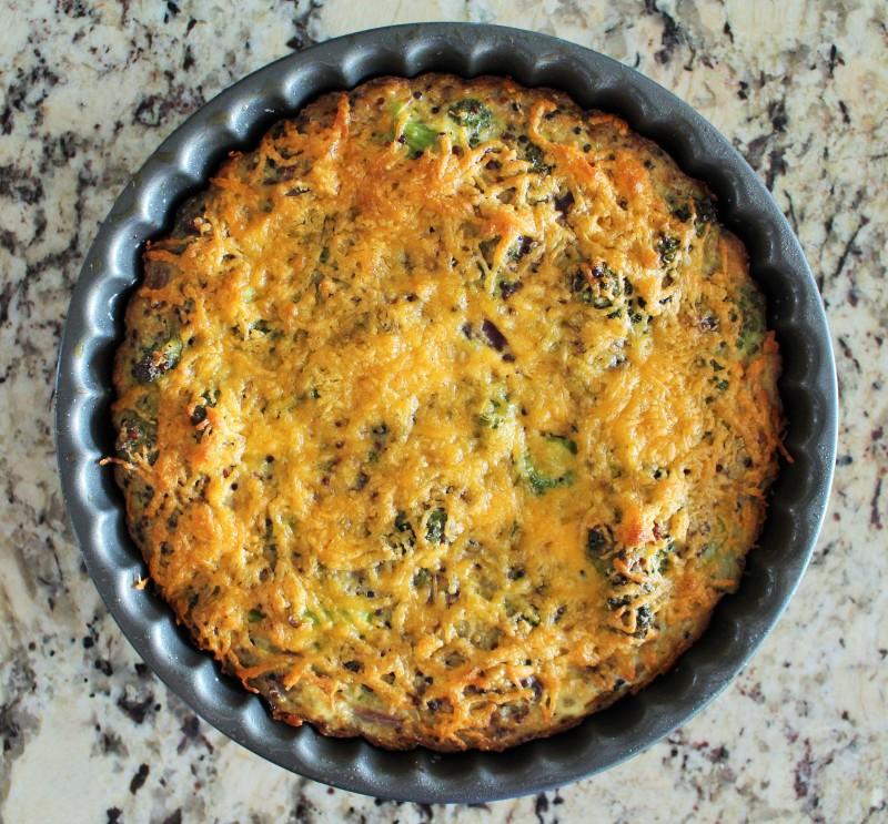Torta de Quinoa e Brócolis 6