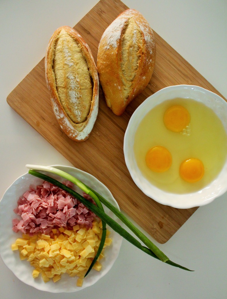 Pão recheado com ovo 1