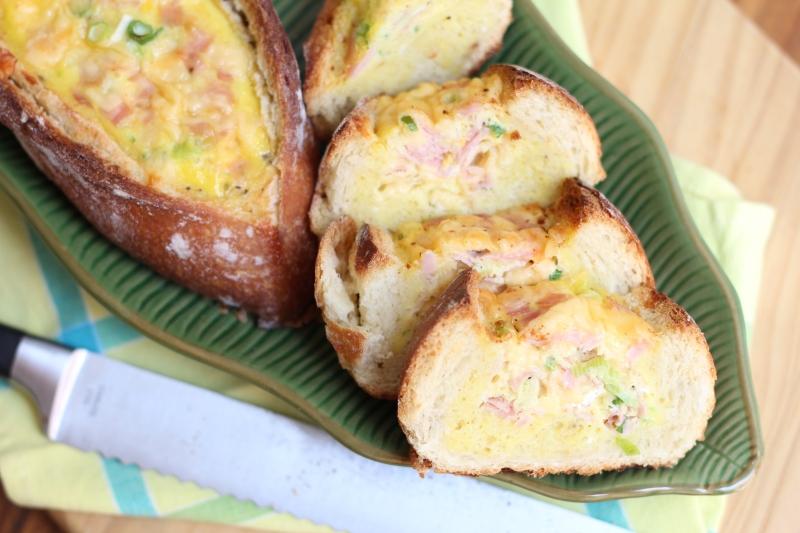 Pão recheado com ovo 10