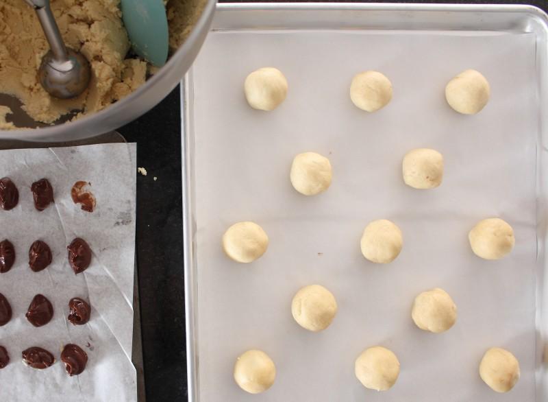 Cookies rechados de Nutella 4