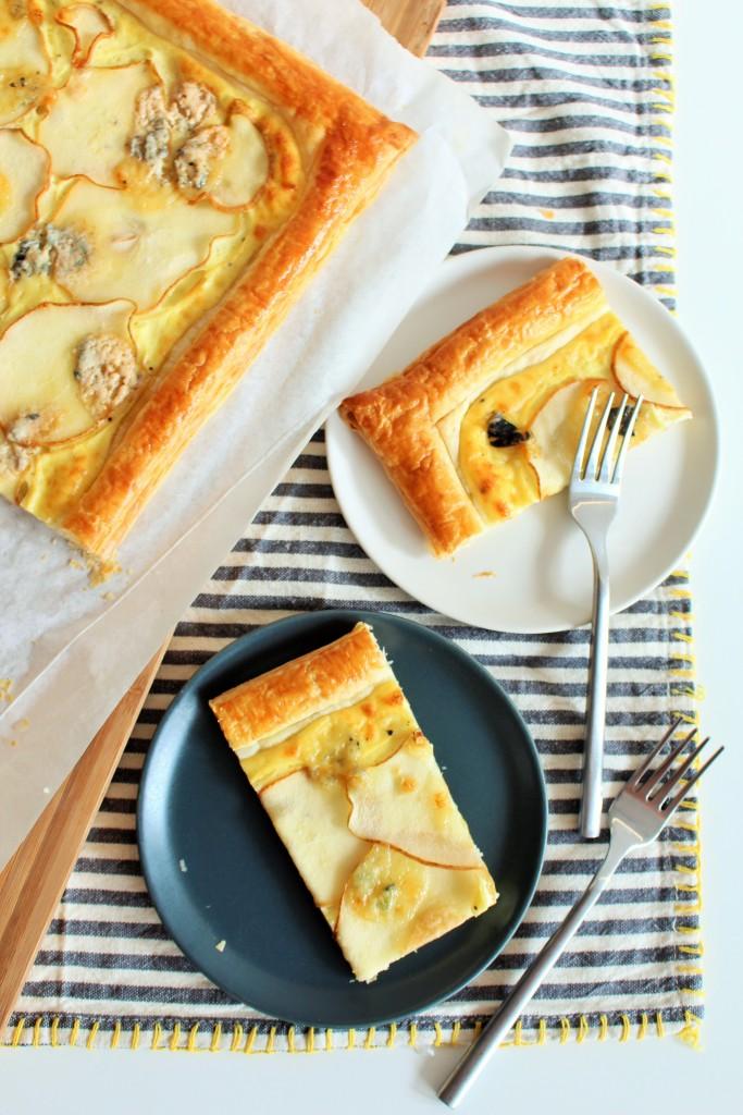 Torta de gorgonzola pera 11