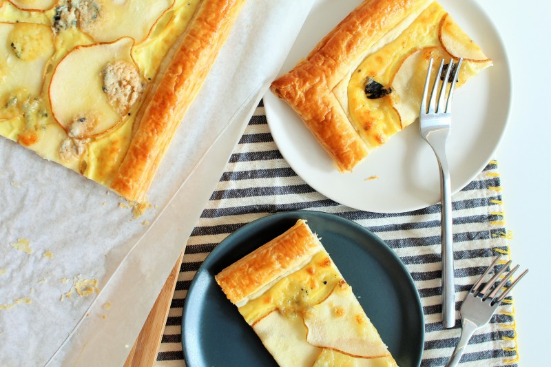 Torta de gorgonzola pera 12