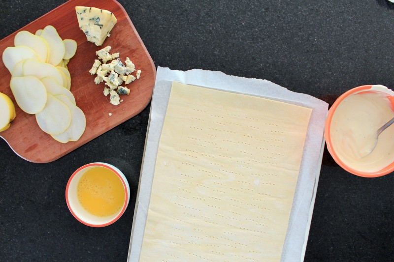 Torta de gorgonzola pera 4
