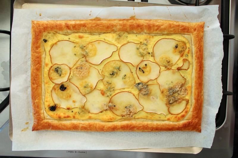 Torta de gorgonzola pera 6