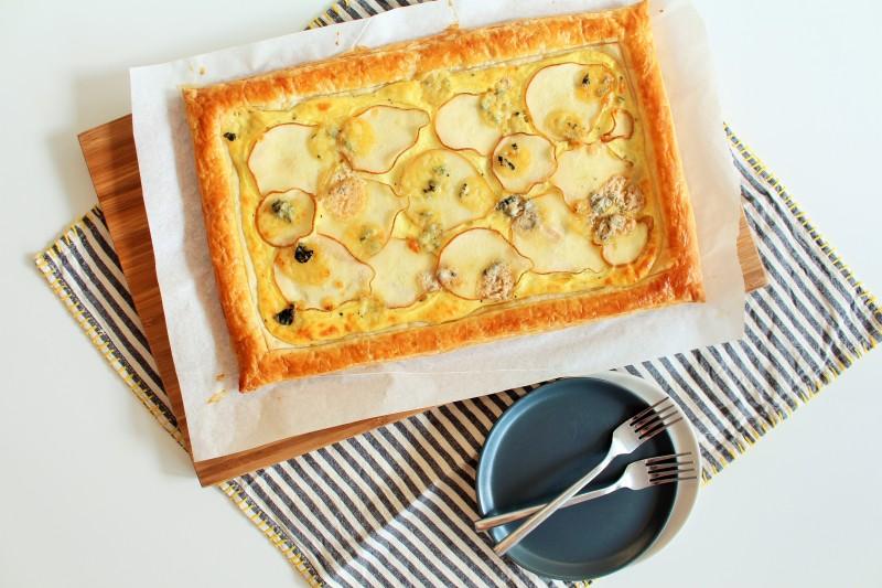 Torta de gorgonzola pera 7