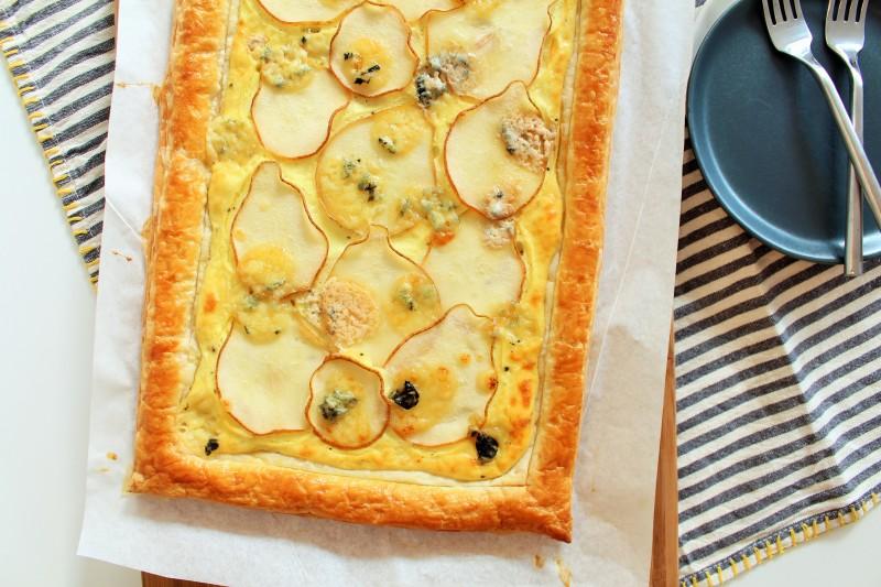Torta de gorgonzola pera 8