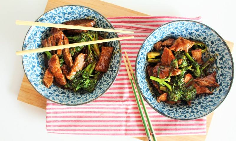 Carne asiática com brócolis 5