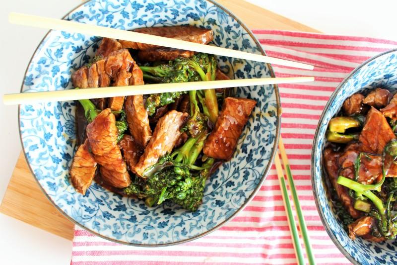 Carne asiática com brócolis 6