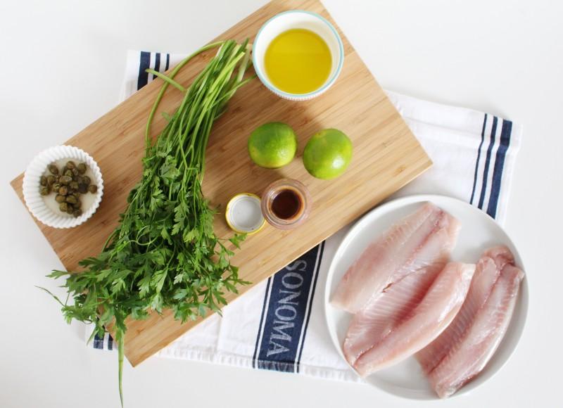 Peixe com salsa verde 1