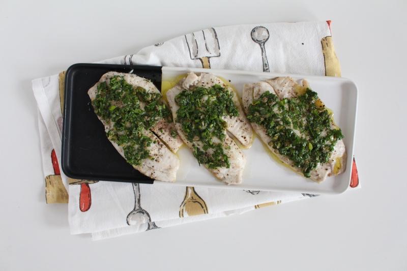 Peixe com salsa verde 3