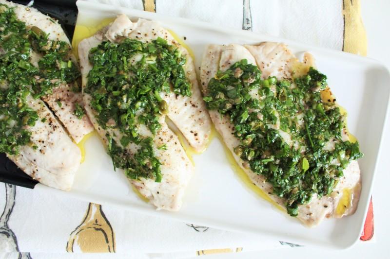 Peixe com salsa verde 5