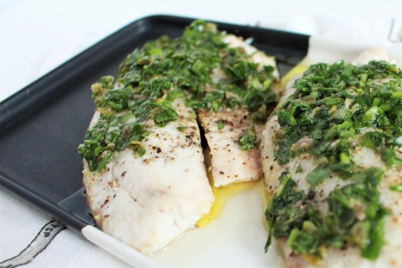 Peixe com salsa verde 6